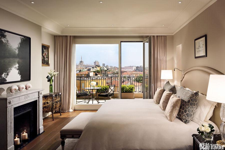 意大利米兰Palazzo Parigi:酒店以巴黎和米兰作为室内设计的灵感源泉。除了浪漫华丽的法式笔触,?#32654;?#19982;米...