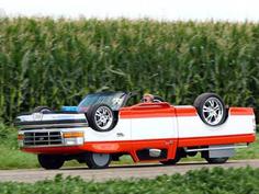 超拉风!民间高手改装的上下倒置卡车