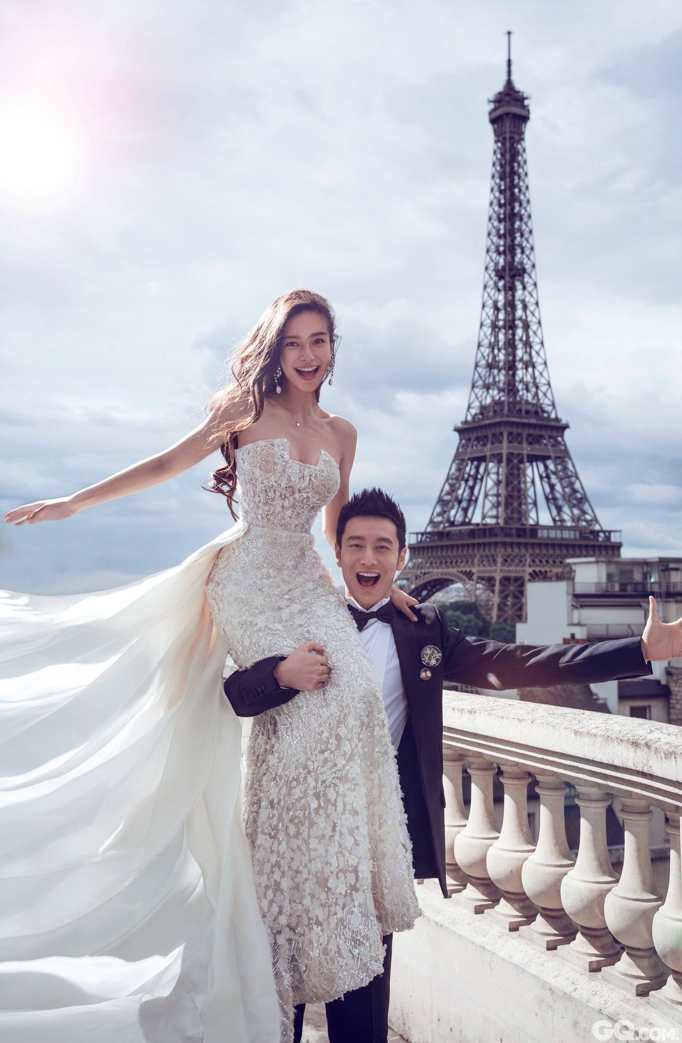 黄晓明与Angelababy将在全民瞩目下于上海展览中心举行梦幻婚礼。8日上午,网上提前曝光一组二人在法国拍摄的唯美婚纱照。在埃菲尔铁塔的见证下,黄晓明和Angelababy甜蜜拥吻,浪漫指数破表。