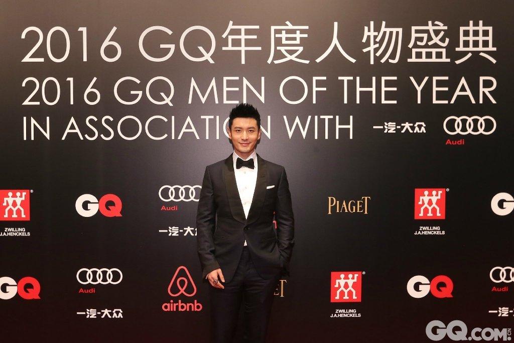 黄晓明出席2016GQ年度人物盛典。