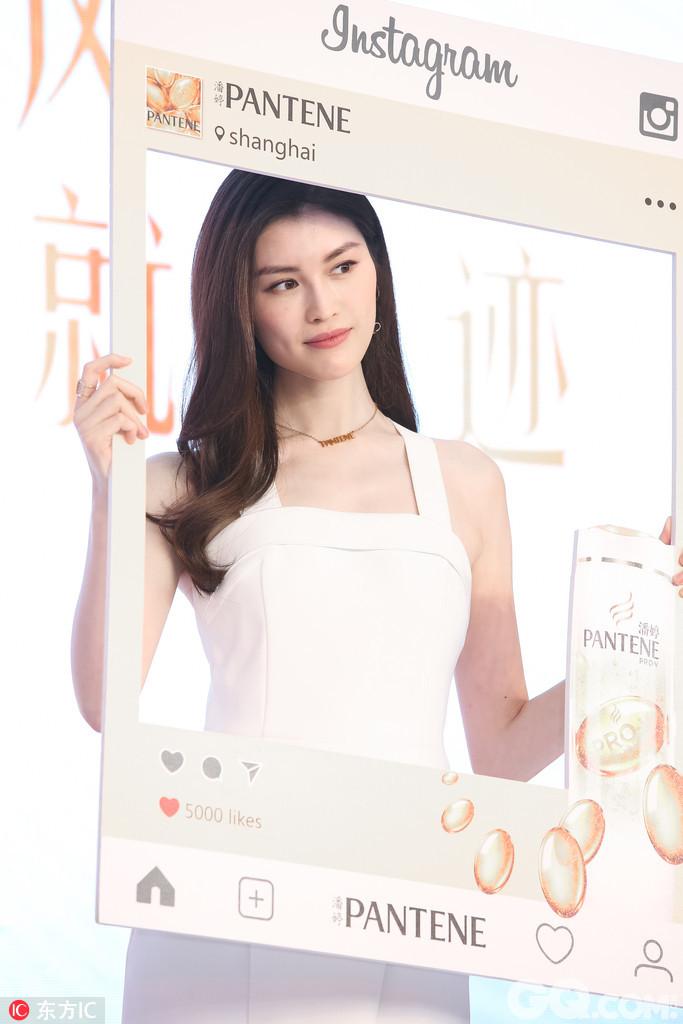 2017年7月11日,上海,何穗出席潘婷发布会。