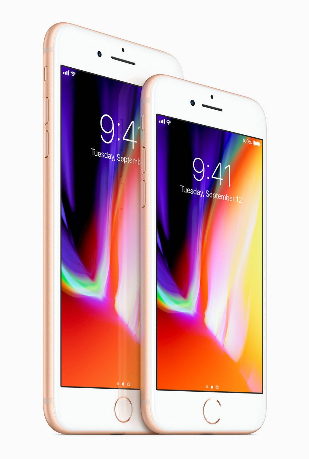 iPhone 8 和 iPhone 8 Plus 的机身前后皆采用 iPhone 上迄今最坚固耐用的玻璃面板,还配备了采用原彩显示技术的视网膜高清显示屏,并专为实现优异的增强现实体验而设计。