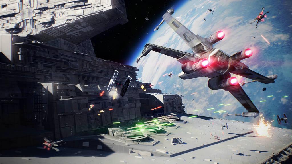NO.4 新的游戏不仅提供特定的武器设定,还提供了多种方式的角色技能设置。单人游戏模式外,多人模式和补丁都已上线。与多人模式相同,故事的大背景还是抵抗恩多的侵略战斗,受电影影响,玩家可以看到电影中的多款角色。