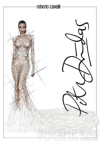 金卡戴珊礼服设计师手稿