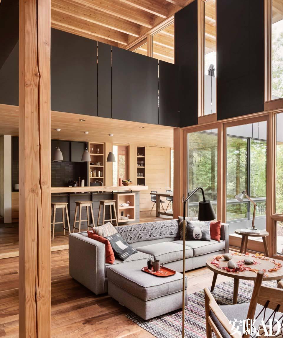身在上海,遥控加拿大,建成林中湖景度假屋!