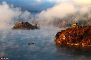 """素有""""高原明珠""""之称的泸沽湖美景。泸沽湖古称鲁窟海子,又名左所海,俗称亮海,位于四川省凉山彝族自治..."""