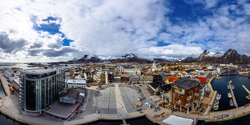 挪威斯沃爾韋爾高空全景