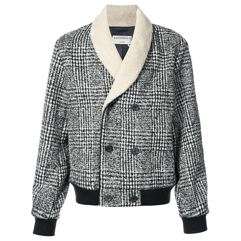 拒绝冬季撞衫的千鸟纹夹克