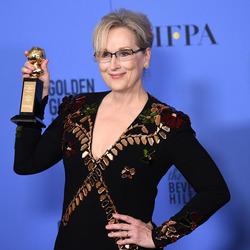 第74届金球奖颁奖典礼举行 梅丽尔·斯特里普获终身成就奖,