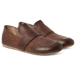 水洗皮革复古乐福鞋
