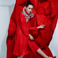 中国红与民族风
