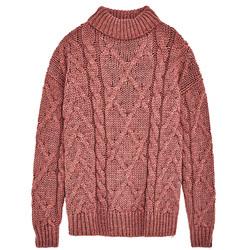 珊瑚色毛衣绝对是让你冬季荣光满面的好选择