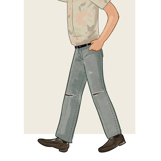 每日穿搭|Vintage的直筒牛仔裤