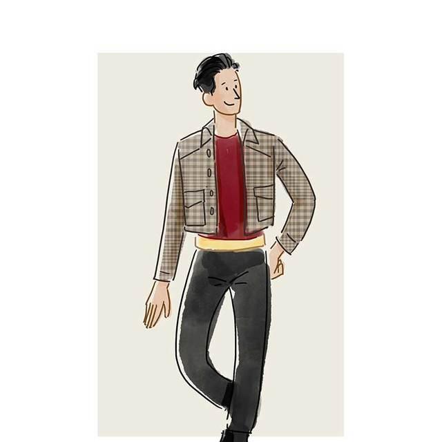 每日穿搭|格纹夹克打造包学包会的雅痞气