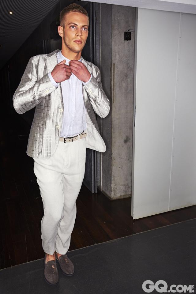 2018春夏男装周Giorgio Armani秀场后台