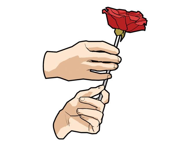 魔术道具 任何的香水一瓶、玫瑰火把魔术道具一只、火机油一瓶。 道具揭秘 玫瑰花枝的顶端是一个可以浸染火机油的棉片。玫瑰花是可以上下移动的,并且花朵的中间有一个可以把火立刻熄灭的小钢圈,让你避免被火烧到。 怎么样表演? 1.用你的一只手握住火把下的花并藏好,之后给花枝顶端的海绵喷上火机油。  2.用打火机把火点燃。  3.然后你可以在女友的面前用送给她的香水喷在火把的顶端,但不要喷太多,注意安全。  4.接着将握住玫瑰花的手往上移动(花的中间会藏有一个灭火的钢圈)。  5.将玫瑰花移到顶端,将手松开,魔术
