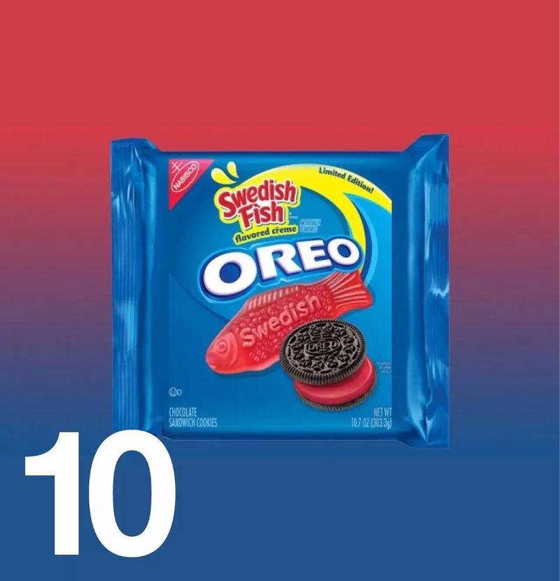 """奥利奥的""""瑞典鱼""""味饼干 奥利奥刚刚在美国推出了一款新口味夹心"""