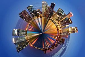 英国摄影师展现超震撼城市微星球景观