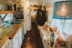 房租太贵 美国年轻夫妇将校车改造成温馨小家