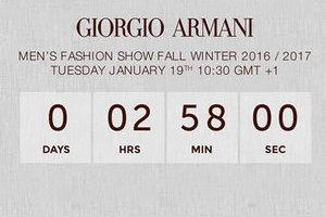 Giorgio Armani 2016秋冬系列男装秀直播