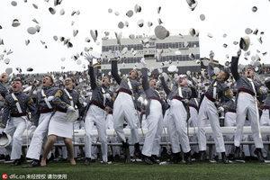 西点军校举行毕业典礼?看美国大兵最美一瞬