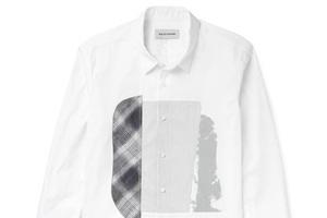 白衬衫胸前不禁脏啊 那就用印花遮挡下!