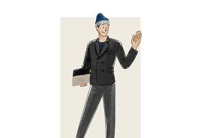 每日穿搭|用毛线帽塑造英伦(贝克汉姆?)气