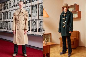 俄罗斯设计师GOSHA RUBCHINSKIY携手BURBERRY再次推出男装设计师合作系列  该新系列于叶卡捷琳堡举行的GOSHA 2018秋冬系列时装秀上全新亮相