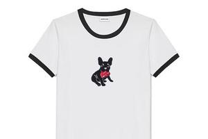 趣味的犬印花T恤
