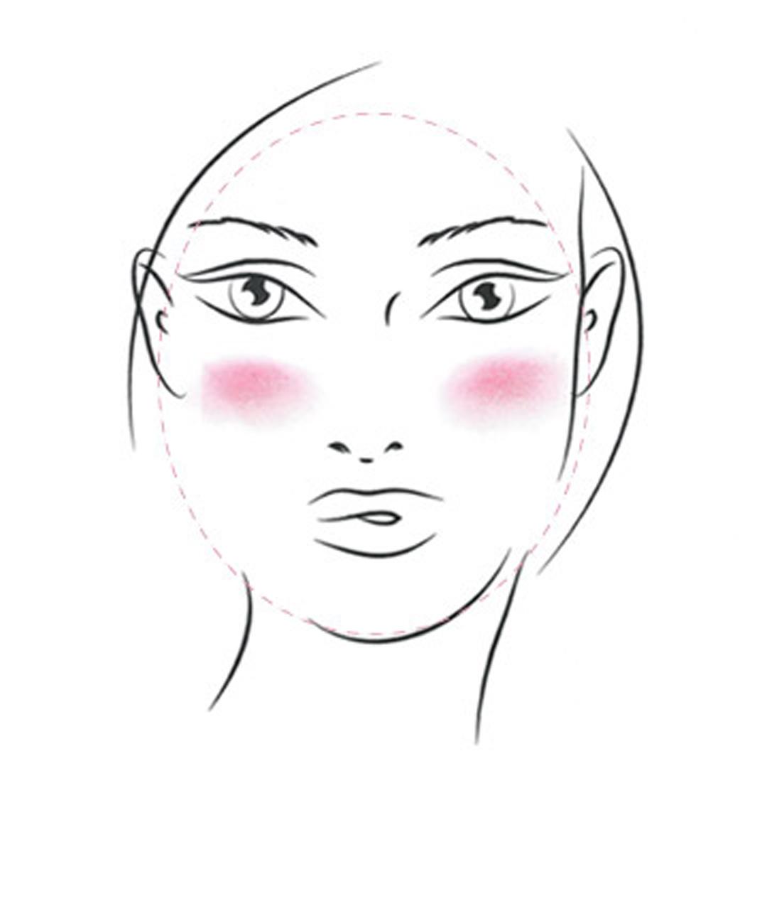 美容  1分钟教你搞懂不同脸型如何打腮红