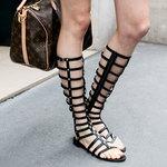 长筒罗马凉鞋 夏日美化腿型全靠它