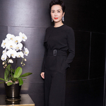 蒋雯丽 (Jiang Wenli) in MAX MARA SS17 RESORT JUMPSUIT