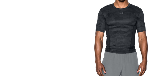 UnderArmour 男士HeatGear® Supervent Armour强力伸缩型短袖T恤