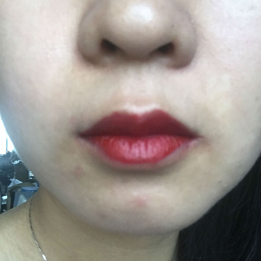 ##阿玛尼红管唇釉##冷艳登场的正红色400图片13