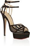 Octavia 绒面革和网布防水台凉鞋