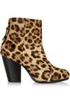 Newbury 豹纹小牛毛及踝靴