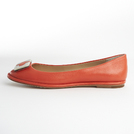 Diane von Furstenberg鲜橙色平底鞋