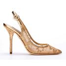 Dolce&Gabbana杜嘉班纳2014春夏系列棕色网面凉鞋