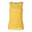 Escada艾斯卡达2014春夏系列黄色镂空背心