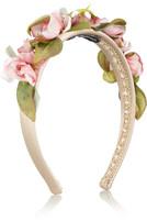 丝缎和薄纱花朵造型发箍