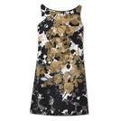 Giada迦达2014春夏系列树叶花纹连衣裙