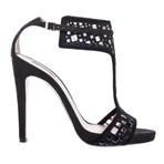 Giorgio Armani乔治·阿玛尼黑色镂空细跟高跟鞋