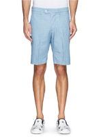 细条纹纯棉短裤