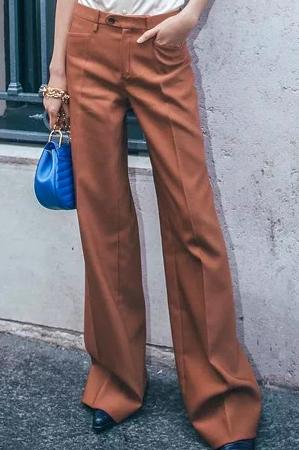 """被阔腿裤""""承包""""的秋天 保暖又时髦"""