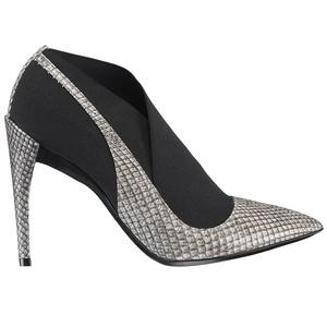 Dior迪奥2013早秋灰色蟒蛇皮松紧短靴