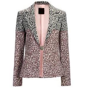 Pinko双色印花西装外套