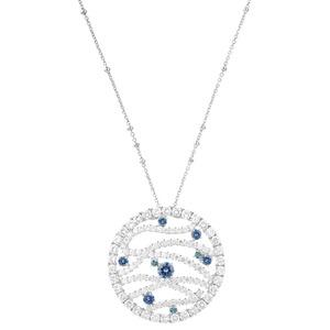 ARTE镶蓝钻项链