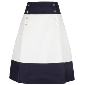 Carolina Herrera 蓝白拼色半身裙
