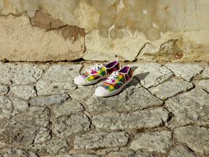 彩虹格纹,LACOSTE FOOTWEAR 2011春季女鞋推荐