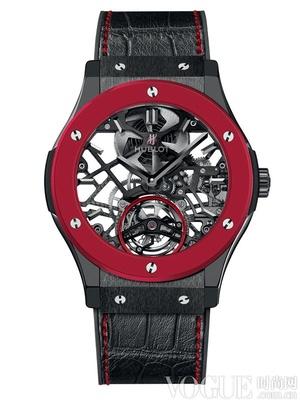 宇舶表呈献全球首创亮红色陶瓷腕表